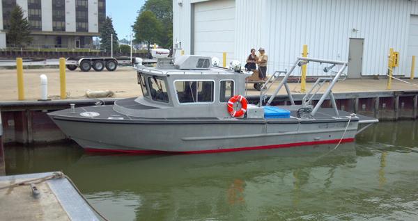 R/V Carmen AEL research boat in the marina