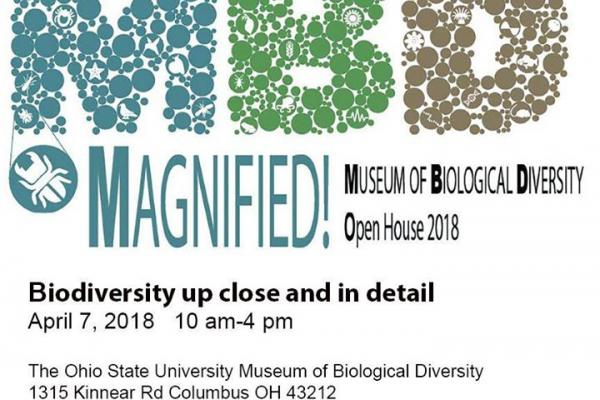 Museum of biological diversity open house 2018, April 7th, theme: magnified