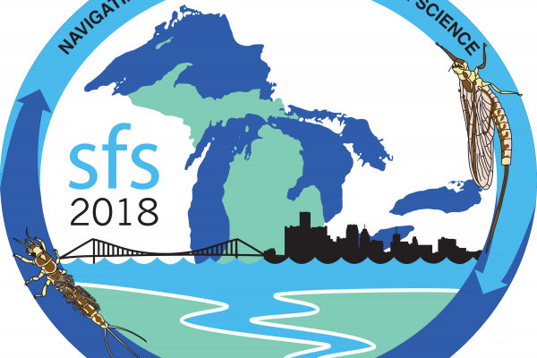 Society for freshwater science 2018 in Detroit, Michigan logo