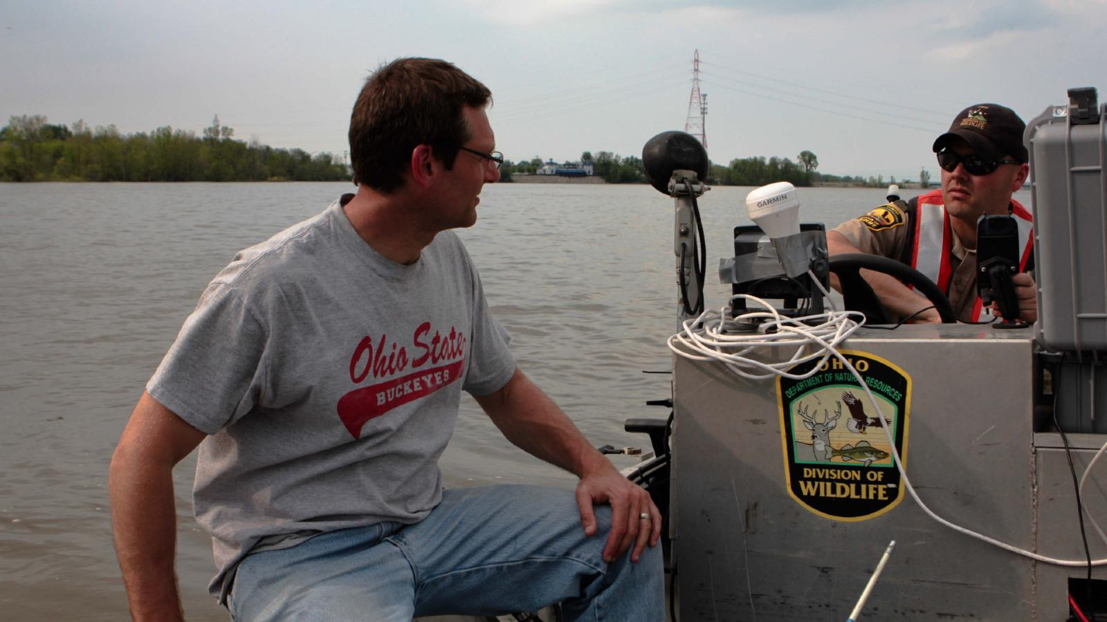 Stu Ludsin and Joe Conroy on ODOW boat